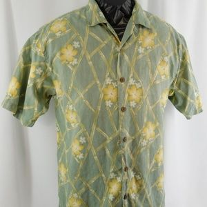 Men's Tommy Bahama Medium 100% Silk Hawaiian Shirt